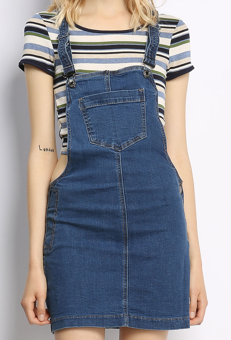 Overall Denim Skirt | Shop Fashion Deal at Papaya Clothing