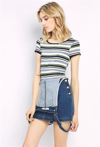 Overall Denim Skirt | Shop Fashion Deal at Papaya Clothing