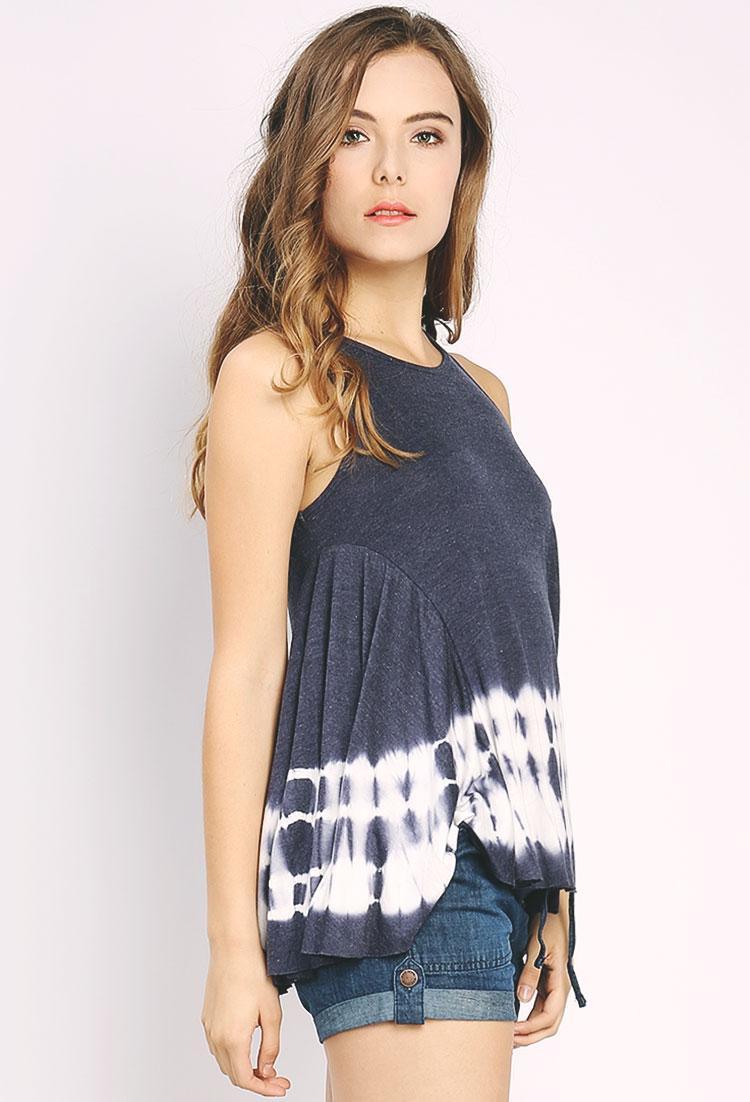 Sleeveless tie dye top shop clothing at papaya clothing for Tie dye sleeveless shirts
