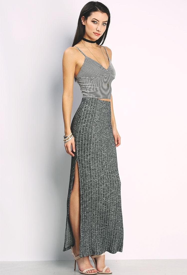 bd6f8e935292 Side-Slit Maxi Skirt | Shop Old Dresses at Papaya Clothing