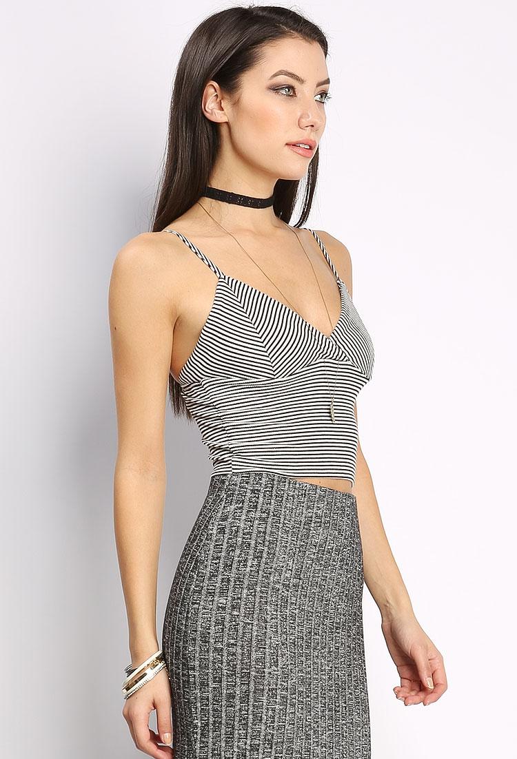 a4b0d3d4dba Striped Cami Crop Top   Shop Blouse & Shirts at Papaya Clothing