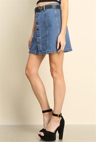 Flare Mini Denim Skirt | Shop Mini Skirts at Papaya Clothing