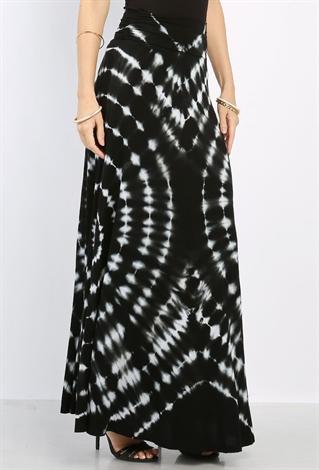 tie dyed maxi skirt shop dresses at papaya clothing