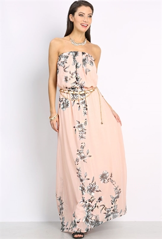 Tube Maxi Dress W/Belt | Shop Dresses Under $15 at Papaya Clothing