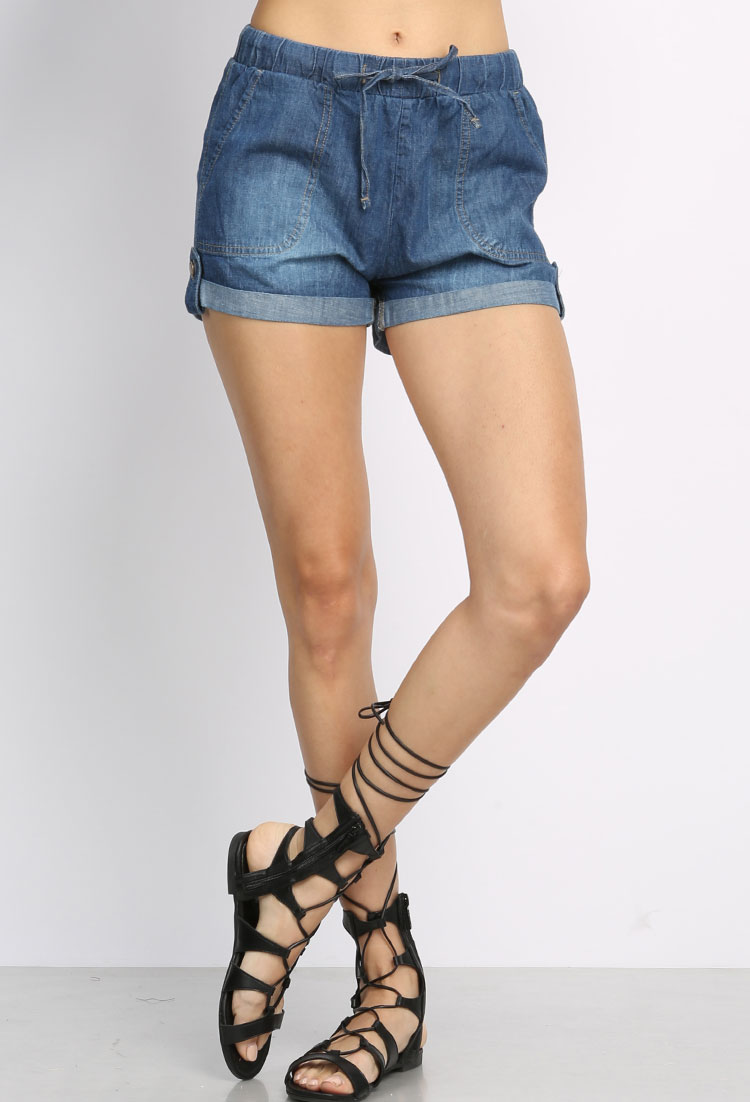 Shop Plus Roll-Up Ripped Denim Shorts online. SheIn offers Plus Roll-Up Ripped Denim Shorts & more to fit your fashionable needs.