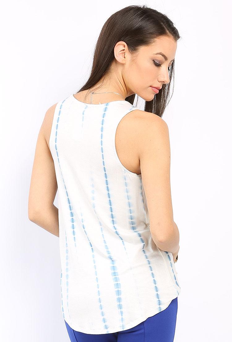 Tie dyed sleeveless top shop tops at papaya clothing for Tie dye sleeveless shirts
