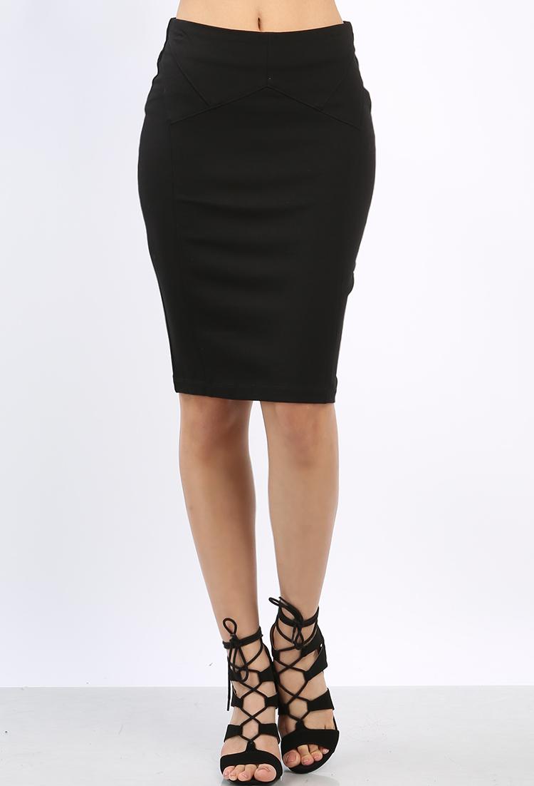 Midi Pencil Skirt   Shop Dressy Outfits at Papaya Clothing