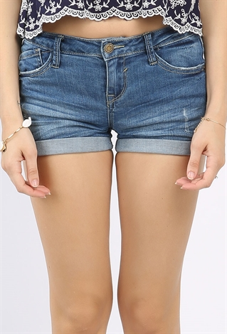 Shop for Roll Up High Waisted Denim Shorts in BLUE M of Shorts and check + hottest styles at ZAFUL. A site with wide selection of trendy fashion style women's clothing, especially swimwear in all kinds which costs at an affordable price/5(5).