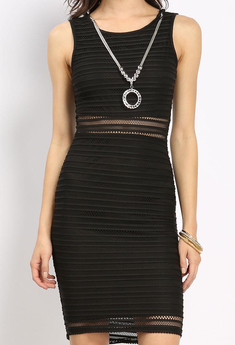 122b680624 Lace Overlay Mini Dress W Necklace