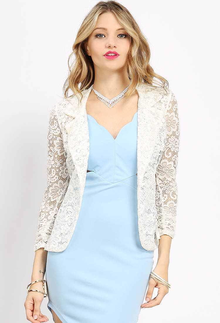 Lace Dressy Cardigan Jacket | Shop Light Weight Outerwear at ...