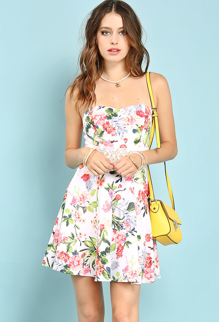 tube floral mini dress shop dresses at papaya clothing. Black Bedroom Furniture Sets. Home Design Ideas
