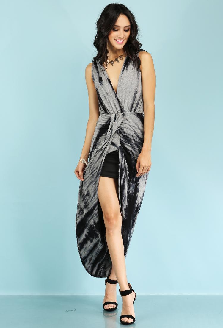 Sleeveless tie dyed maxi dress shop clothing at papaya for Tie dye sleeveless shirts