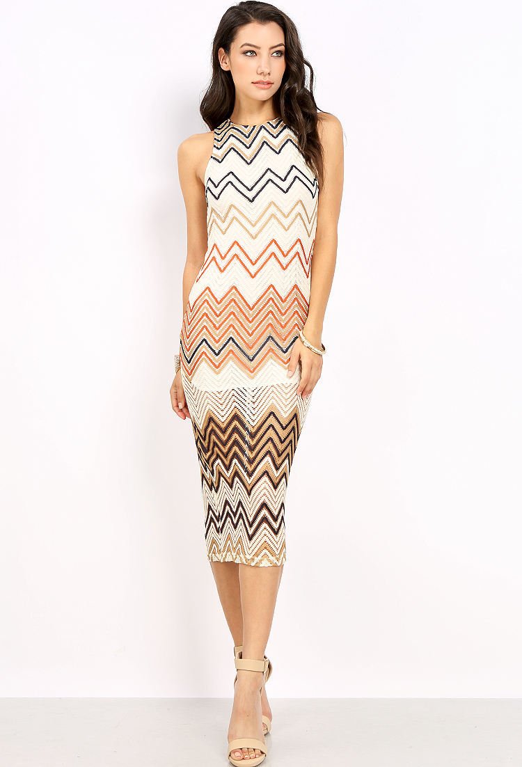 Zigzag Pattern Lace Overlay Dress Shop Old Dresses At Papaya Clothing