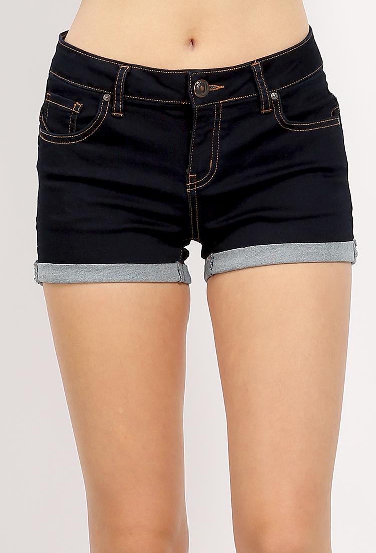 Butts Up! Cuffed Denim Shorts   Shop Shorts at Papaya Clothing