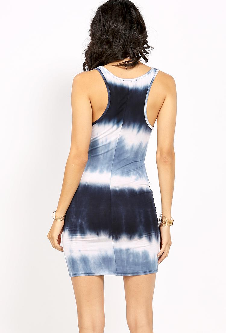 Tie dye sleeveless mini dress shop dresses at papaya for Tie dye sleeveless shirts