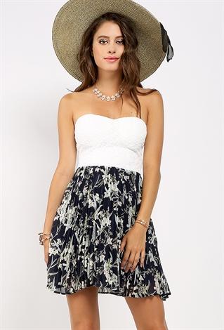 floral tube mini dress shop dresses at papaya clothing