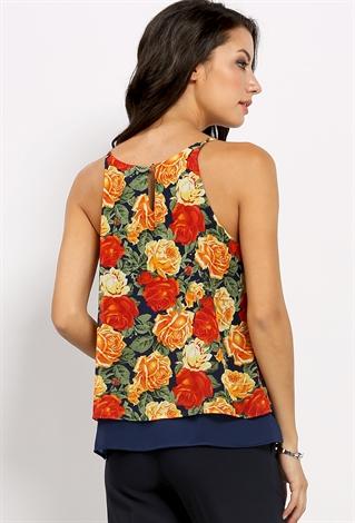 0fa1762ba Floral Pattern Lace Overlay Cami Top   Shop Graphics at Papaya Clothing