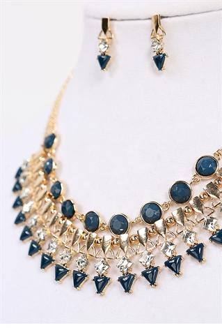 faux gem necklace shop jewelry at papaya clothing