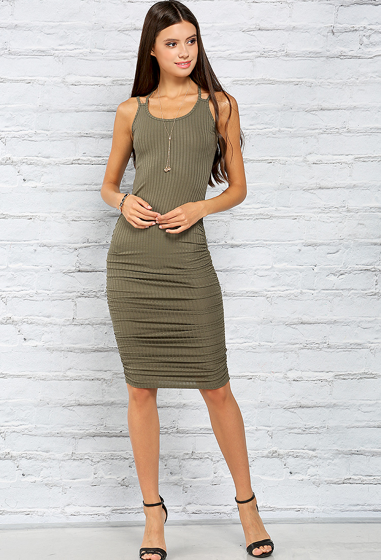 Ribbed Cami Midi Dress | Shop Best Sellers at Papaya Clothing