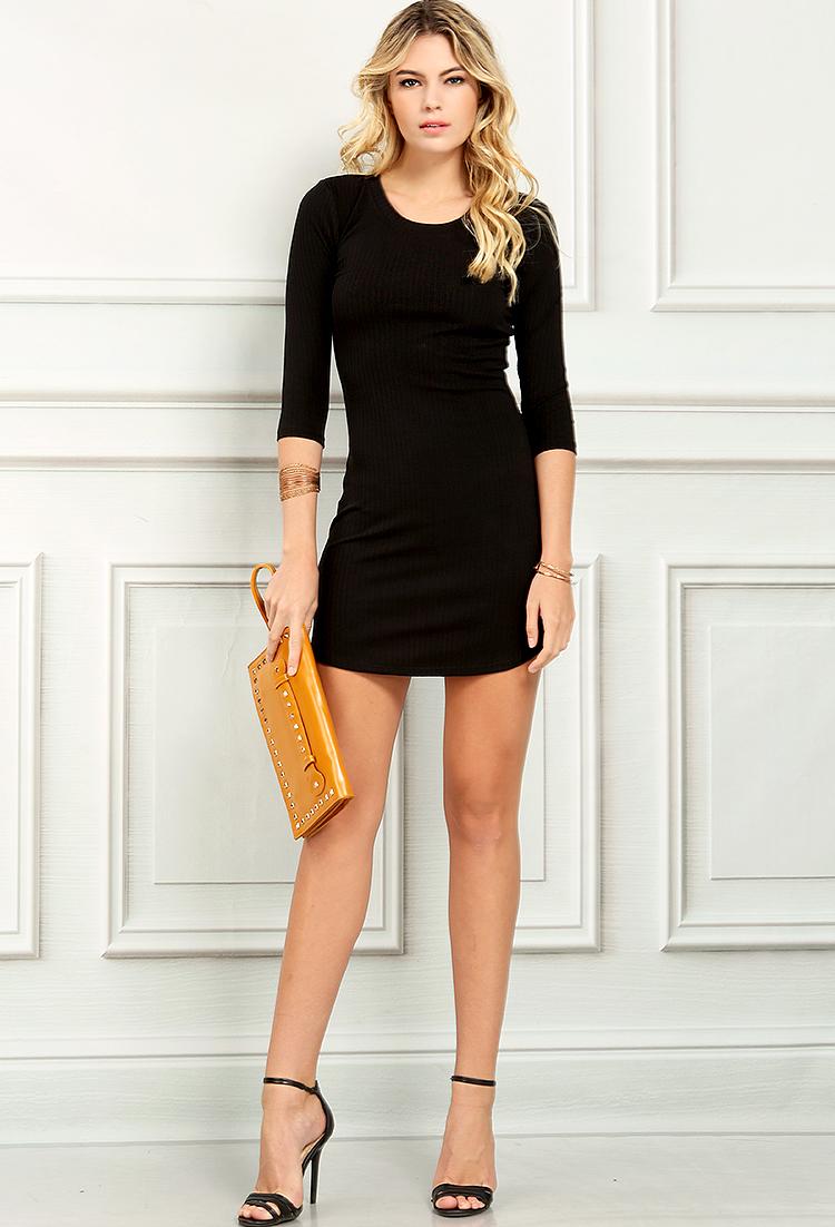 53694a56 Ribbed Bodycon T-Shirt Dress | Shop Old Day Dresses at Papaya Clothing