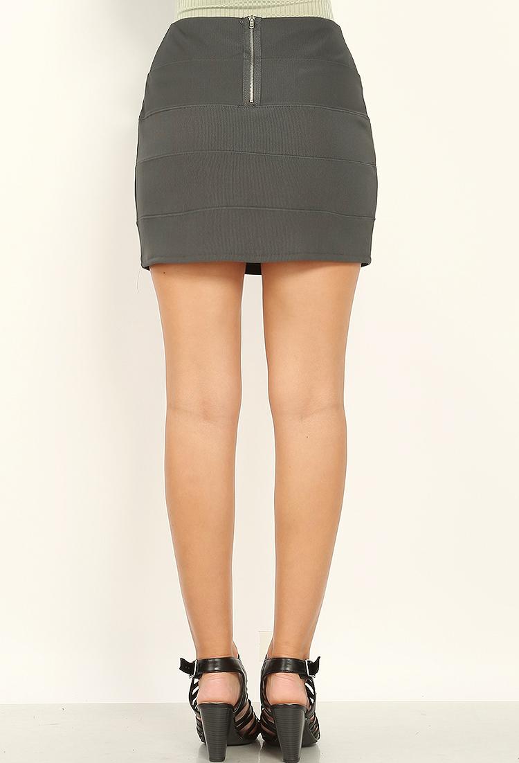 Mini skirt back watch on minibus