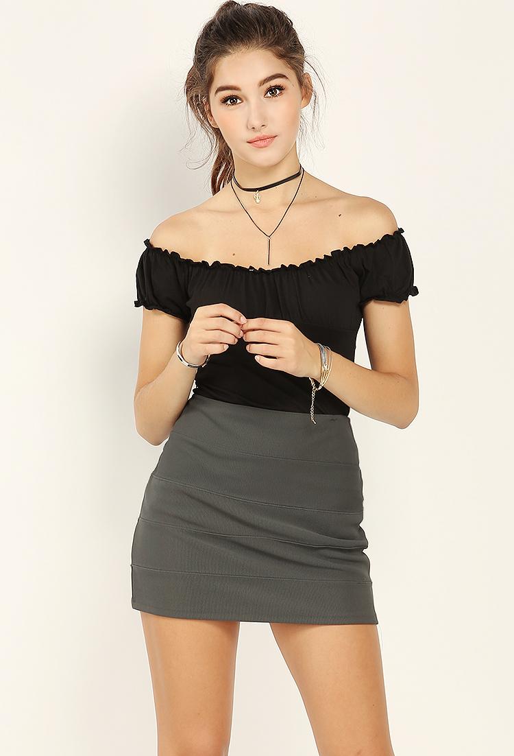 Back Zip Skirt 103