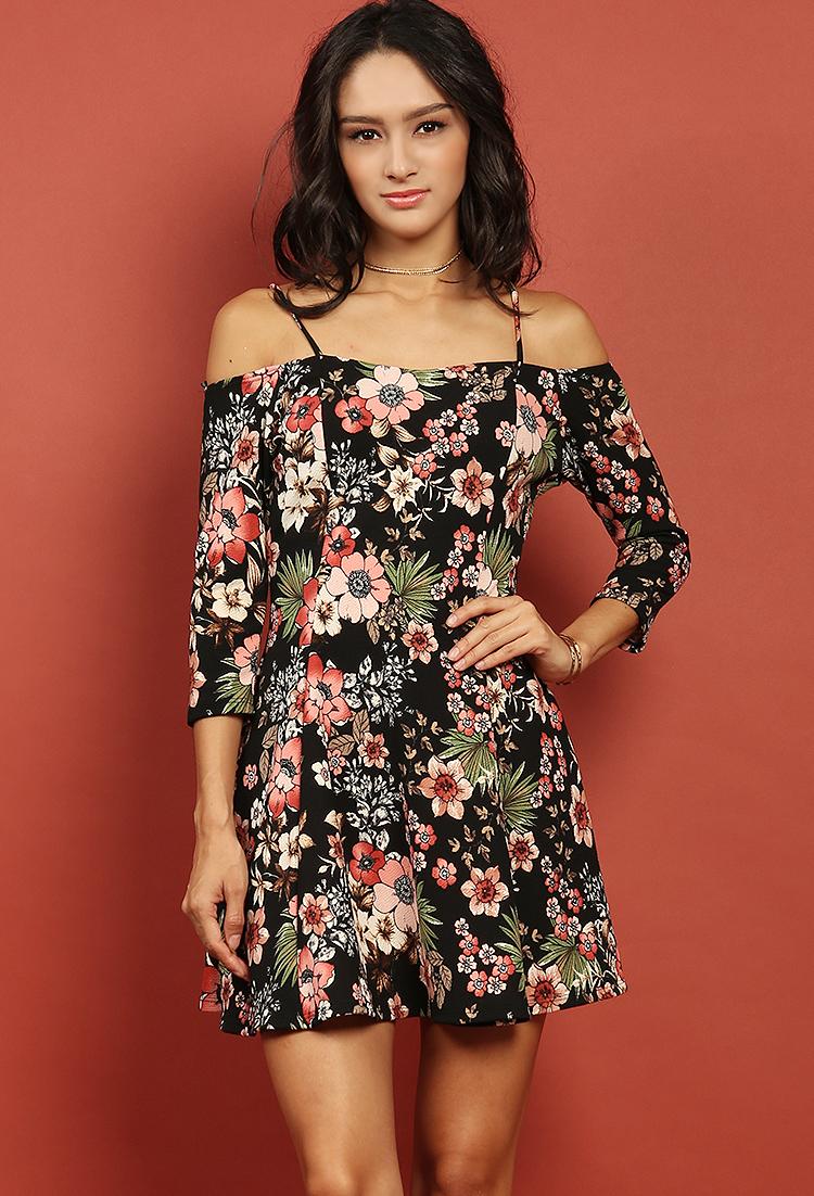 3644154c8051 Off-The-Shoulder Floral Dress