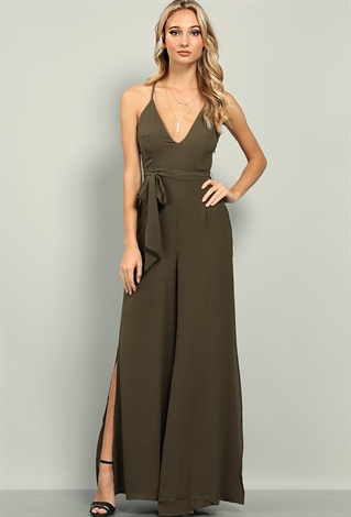 Self-Tie Cami Jumpsuit | Shop Dresses at Papaya Clothing