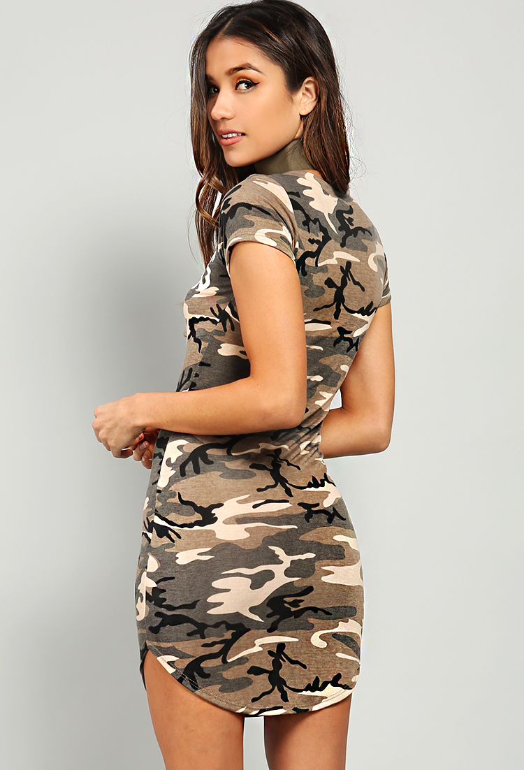 b821fbf4ba5f0 Flawless Camo T-Shirt Dress | Shop Old Night Out Dresses at Papaya ...