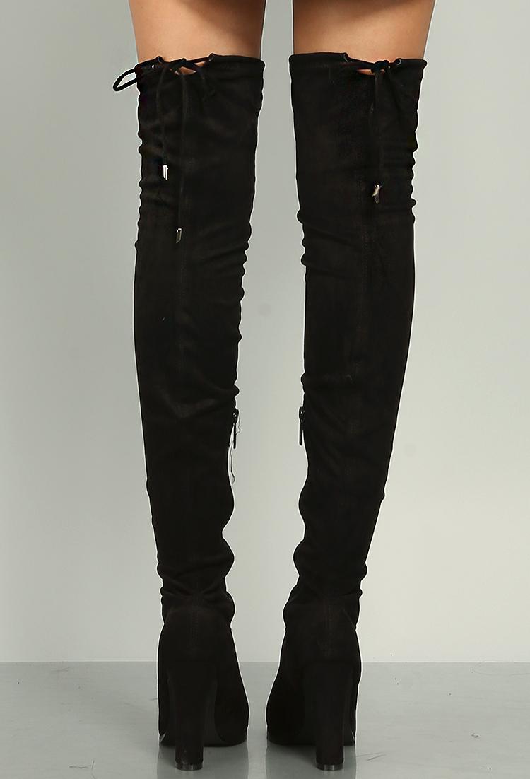 f7f0edbcb6e Suedette Thigh High Boots | Shop Old Shoes at Papaya Clothing