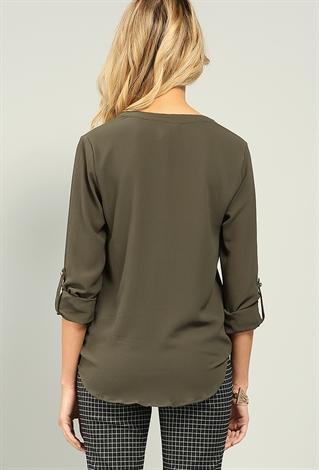 Zip Front Blouse 36