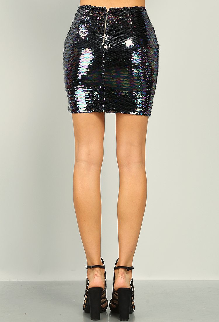 Iridescent Sequin Skirt