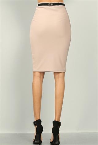 pencil skirt w belt shop skirts at papaya clothing