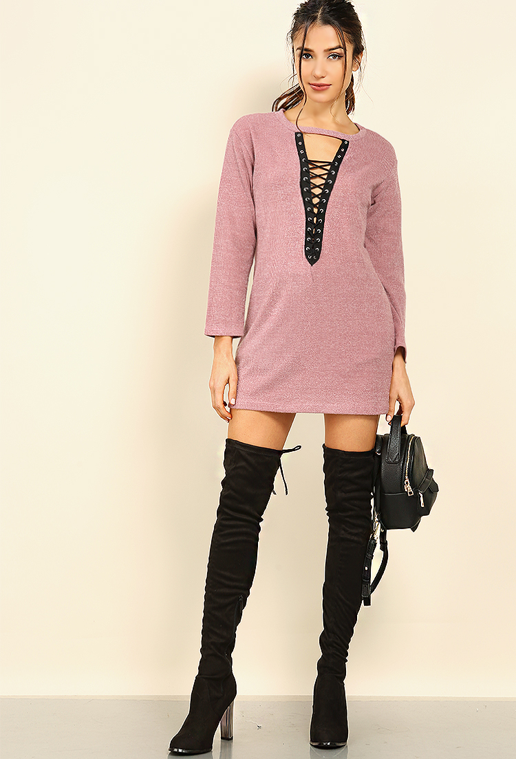 What Shoes To Wear With Sweater Dress And Leggings