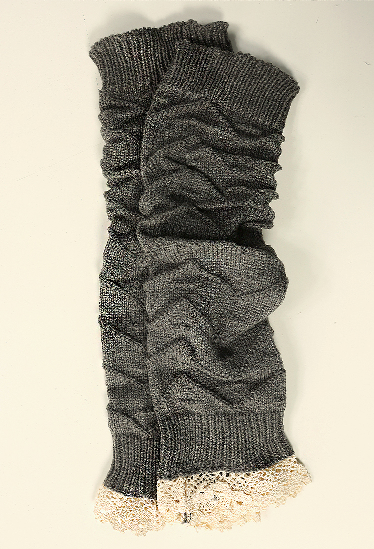 Ruffle Knit Leg Warmers Shop Socks at Papaya Clothing