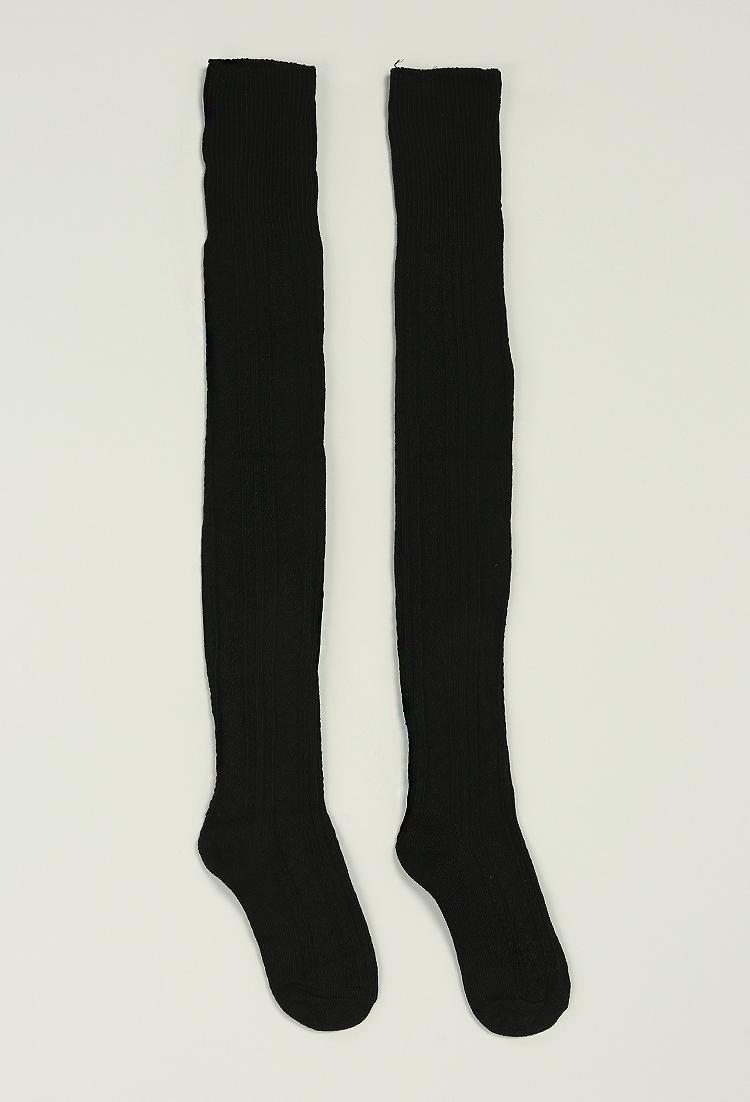 Over-The-Knee Knit Socks Shop Socks at Papaya Clothing