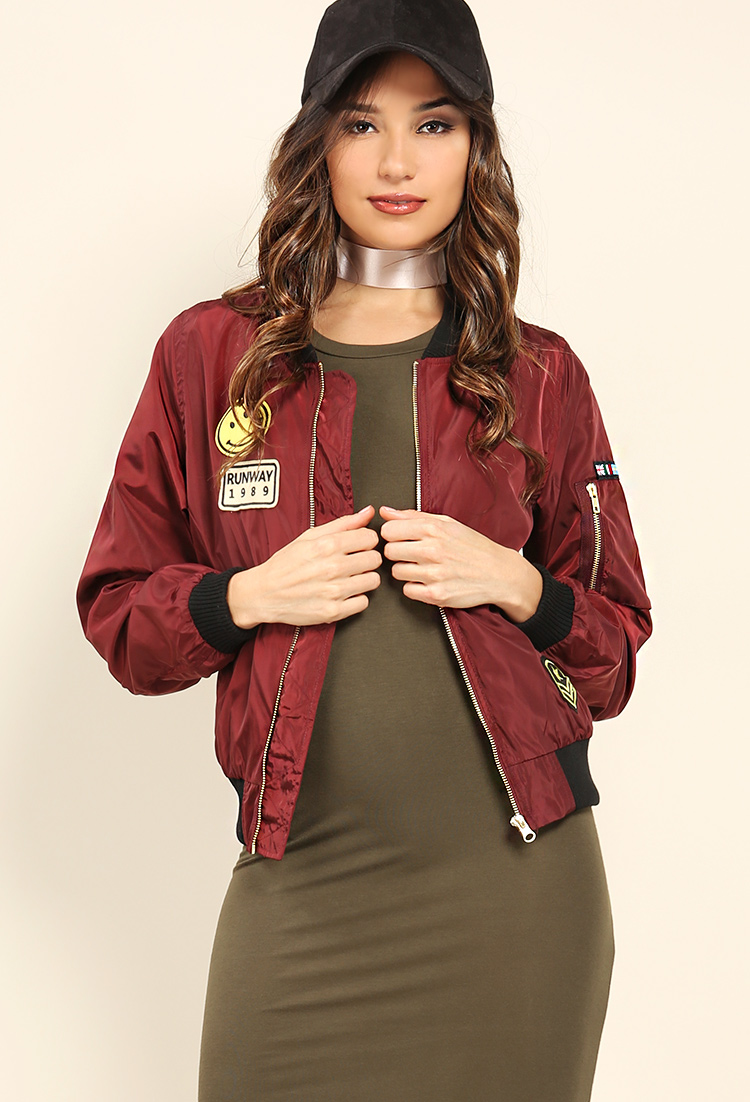 Runway Patch Bomber Jacket