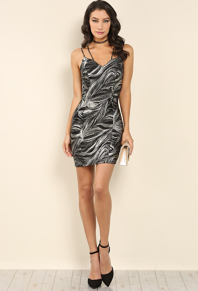 a2626653fae64 Strappy Glitter Bodycon Dress | Shop Night Out Outfits at Papaya Clothing