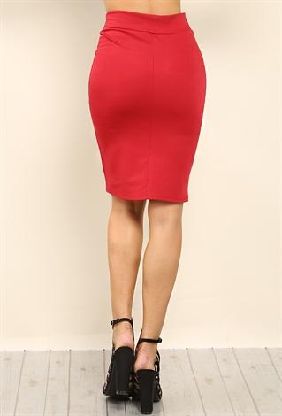 stretch knit midi skirt shop skirts at papaya clothing