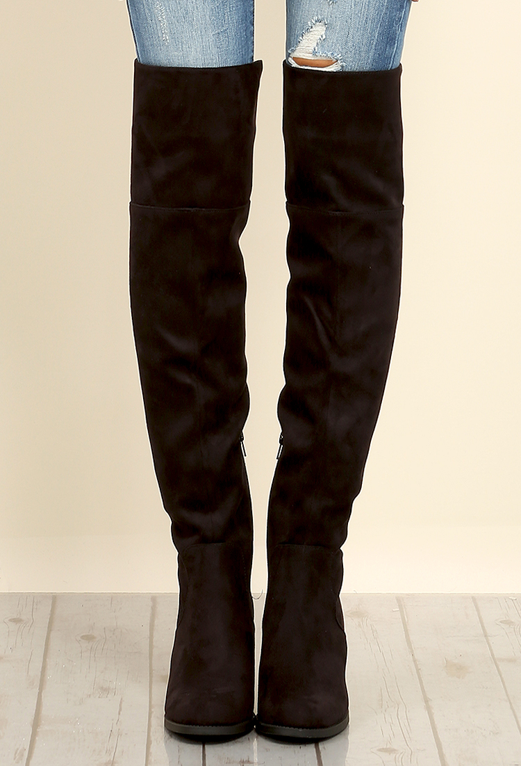 Back lace up boots -  Back Lace Up Thigh High Boots