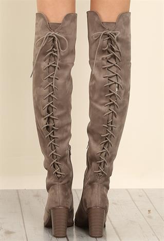 back lace up thigh high boots shop at papaya clothing