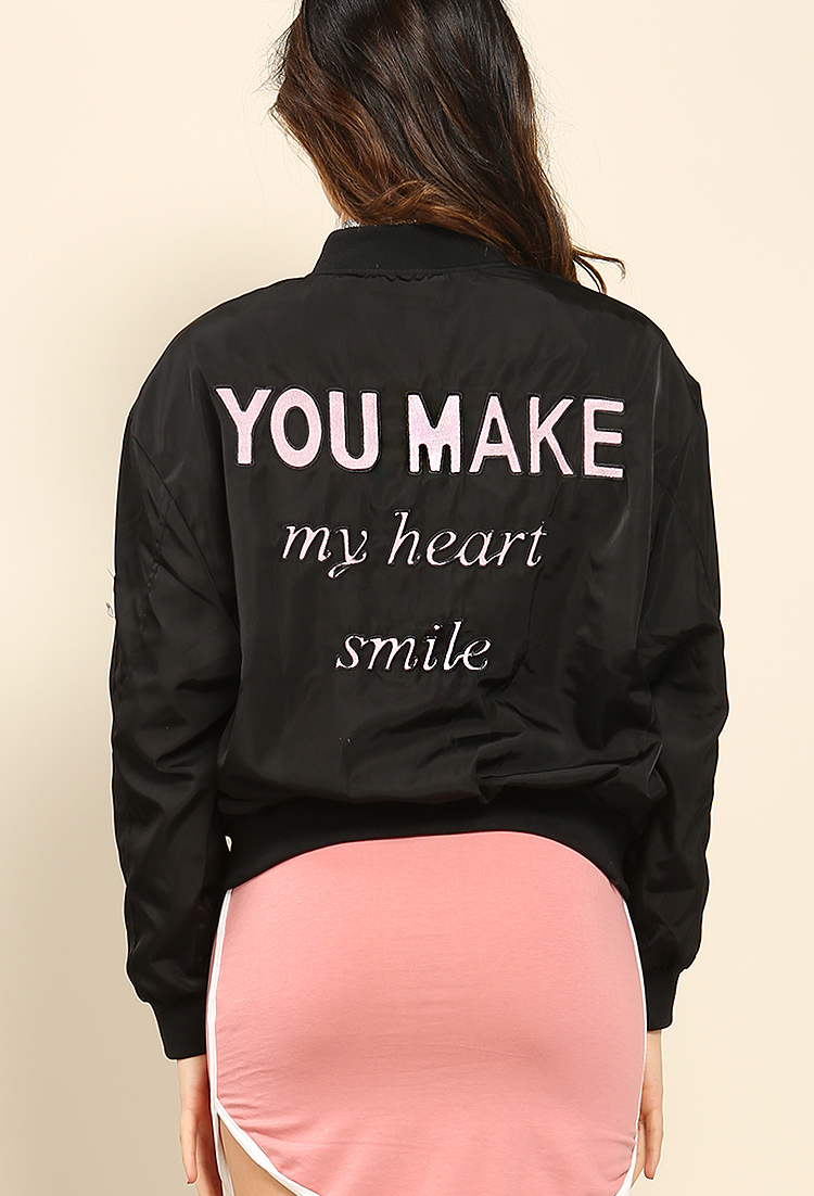 You Make My Heart Smile Bomber Jacket