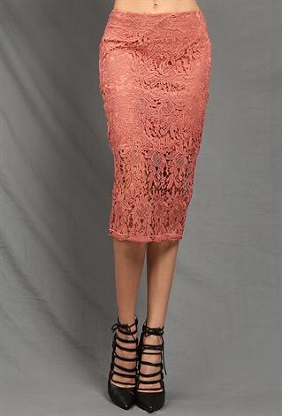 crochet overlay midi skirt shop bottoms at papaya clothing