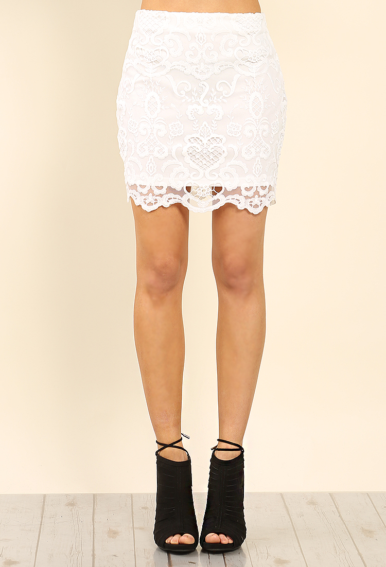 Crochet Lace Mini Skirt