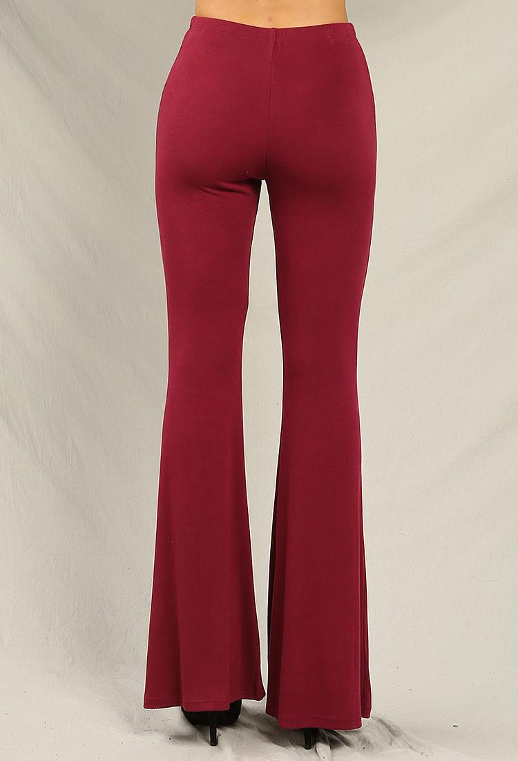 56b172139 Stretch Knit Flared Pants | Shop Old Bottoms at Papaya Clothing