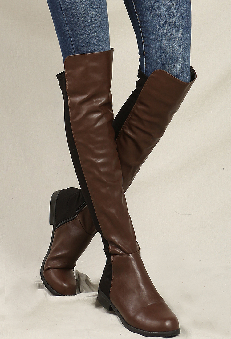 000bd05b67 Faux Suede Over-The-Knee Boots | Shop Old Shoes at Papaya Clothing