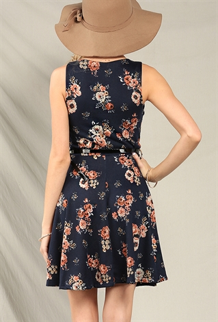 belted floral skater dress shop new and now at papaya
