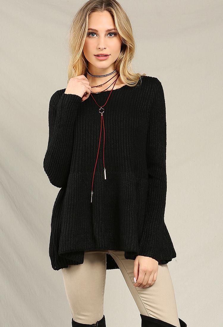Knitting Pattern Peplum Cardigan : Peplum Knit Sweater Shop Sweaters & Cardigans at Papaya Clothing