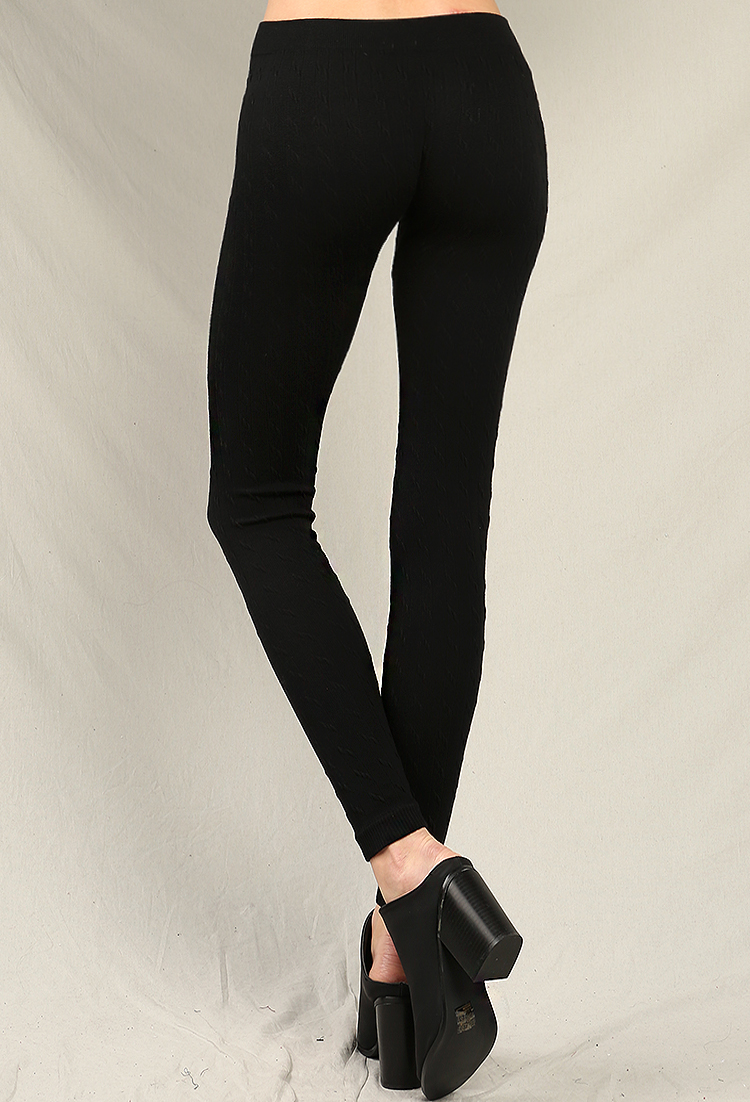 Ribbed Sweater Knit Leggings | Shop Cool And Collected at Papaya ...