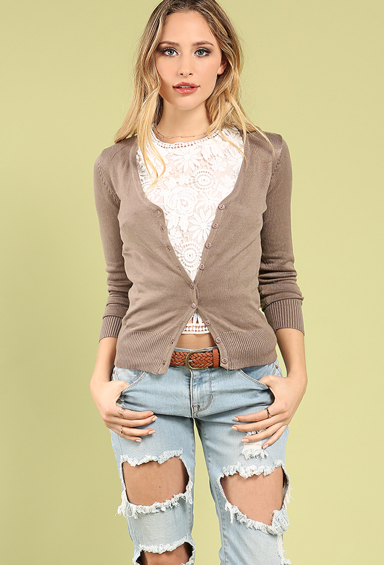 Basic V-Neck Cardigan